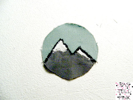 Mountain Berg Aufnäher Patch DIY