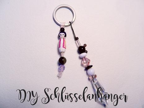 Diy Schlüsselanhänger Mit Kleiner Geisha Und Mickey Mouse Perle