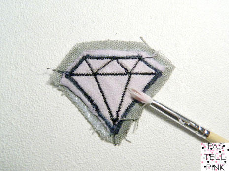 DIY diamon Diamant Glamout Patch Aufnäher