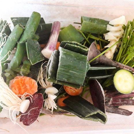 Gemüsereste auf keinen Fall wegwerfen