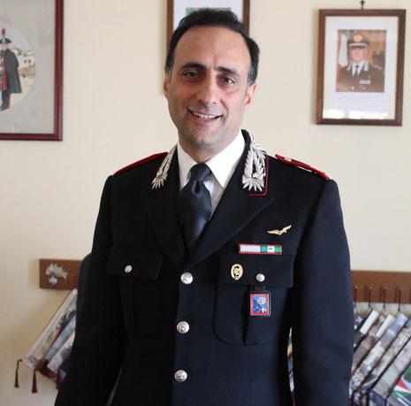 Il maggiore De Luca Comandante della compagnia Carabinieri di Cassino