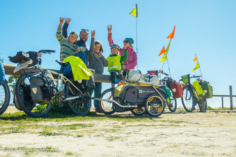 familienreise, fahrrad, radreise, 4000km