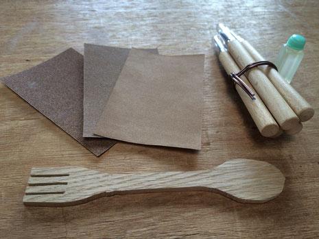 木のスプーン 手作り キット 紙ヤスリ 彫刻刀