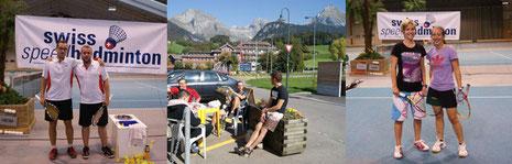 Glückliche Gewinner, Sonnenschein und Bergpanorama im Toggenburg