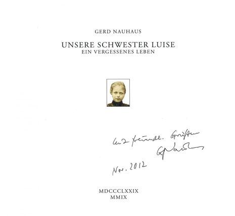 Titelseite von Gerd Nauhaus´ Büchlein zur Lebens- und Leidensgeschichte von Luise