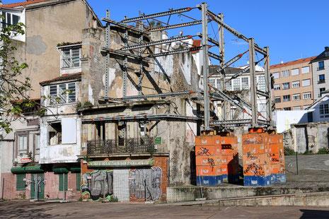 Kein Einzelfall in der Innenstadt von Ferrol