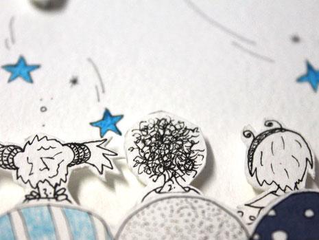 Photo d'un détail d'illustration représentant l'accès à la rubrique des tutos, DIY et MOOC offerts par l'illustratrice Cloé Perrotin