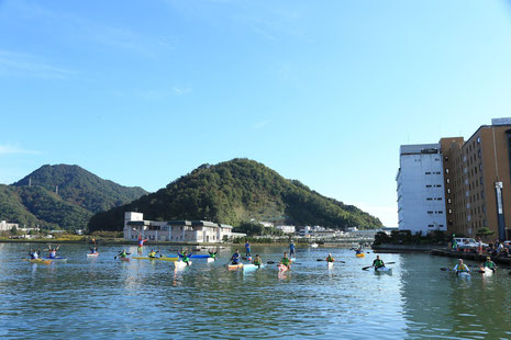 舞鶴湾パドリングチャレンジ2019_記念撮影_スタート前2
