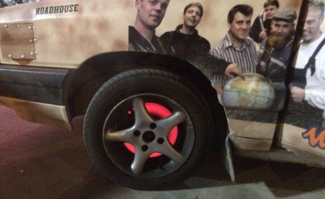 Wer bremst verliert? Die Bremsscheibe des Audi an der türkischen Grenze.