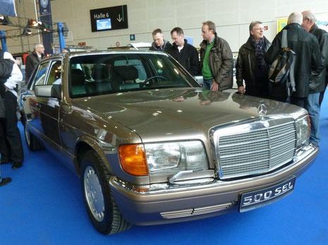 W 126 500 SEL auf der Bremen Classic Motorshow.
