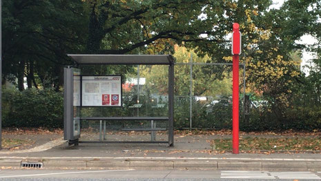 Bushaltestelle in Steilshoop: Hier gibt's einen Unterstand.
