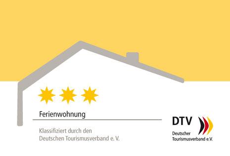 Der Deutsche Tourismusverband (DTV) hat uns mit 3 Sternen bewertet.