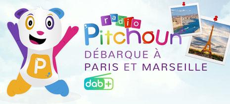 Radio Pitchoun, Radio Pitchoun en DAB+ à Paris et Marseille, mon dabplus, mondabplus