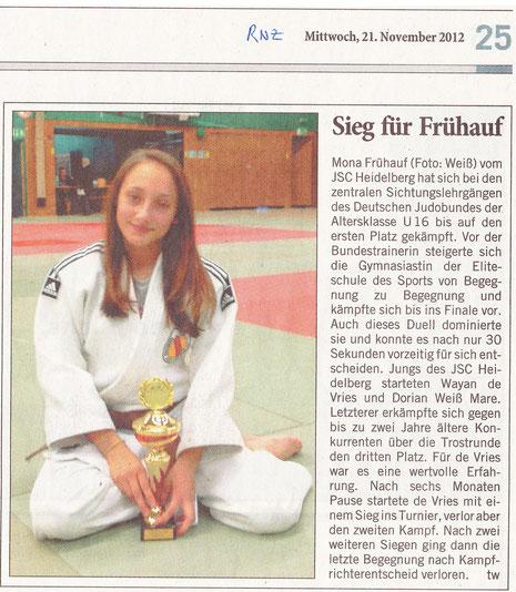 Veröffentlicht am 21.11.2012 in der Rhein-Neckar-Zeitung