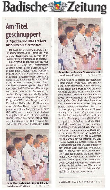 Veröffentlicht am 29.11.2012 in der Badischen Zeitung