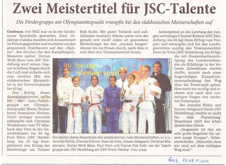 Veröffentlicht am 17./18.11.2012 in Zeitung