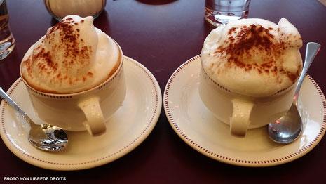 Cappuccinos neigeux, photo non libre de droits