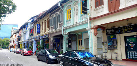 Shophouses, Singapour, photo non libre de droits