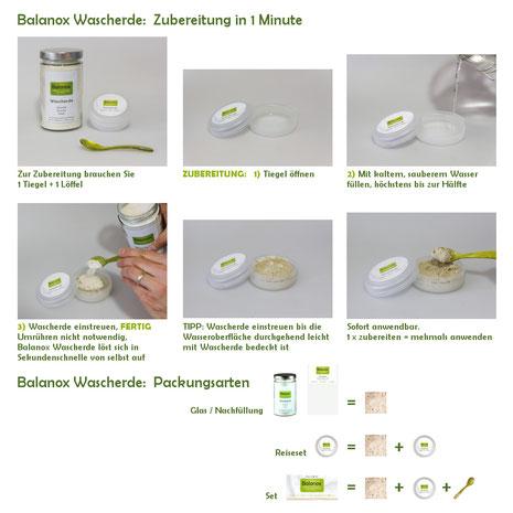 Balanox™ Wascherde: Zubereitung und Anwendung