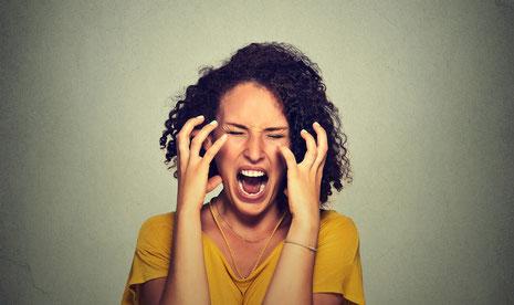 Frau wütend, Glückskompetenz, mentales Training