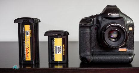 Akkutyp LP-E4 für Canon 1D/s Mark-III im Vergleich zum NP-E3 von der 1D/s Mark-II