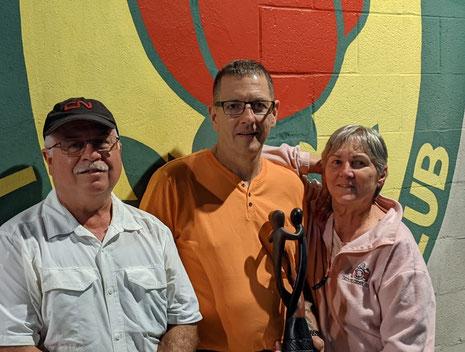 Photo of Jim Demers, John Hunter, and Bettyann Rankin.