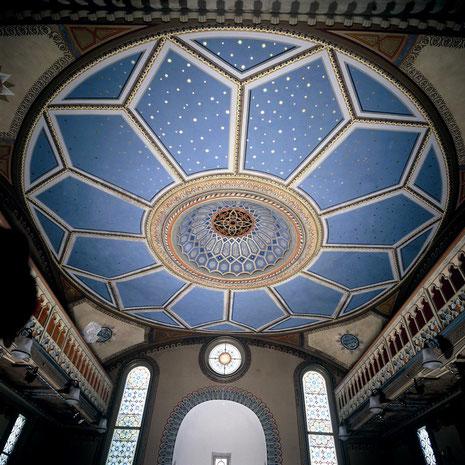 Die Decke mit Kuppel, Synagoge Hechingen, Foto: mit freundlicher Genehmigung von www.foto-keidel.de, alle Rechte vorbehalten!