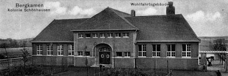 Das Wohlfahrtsgebäude der Kolonie Schönhausen wurde 1933 zum KZ. (Bildnachweis: Stadtarchiv Bergkamen)