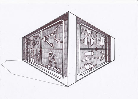 Dream Box, 2012, Kinetic art installation, 280cmx360cmx240cm