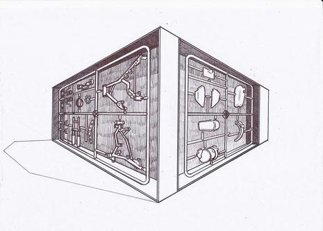 Dream Box, 2012, Kinetic art installation, 280cmx360cmx240cm