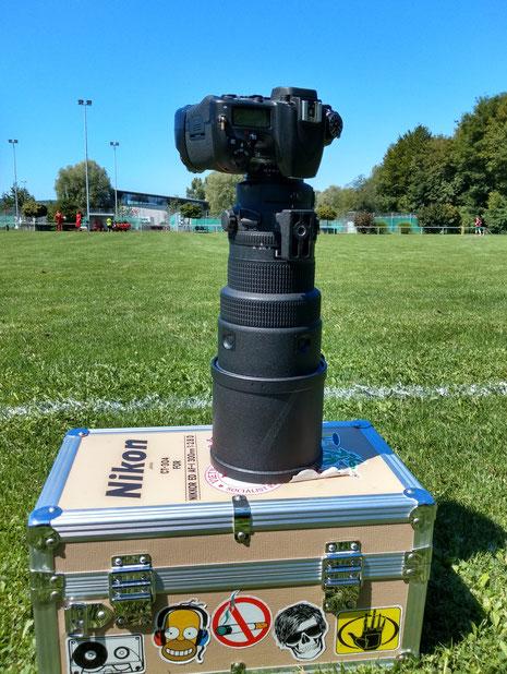 Big Lens Fast Shutter: die perfekte Kombination für Sportphotographie: eine schnelle Kamera und ein Glas mit mit Reichweite und Lichtreserve.