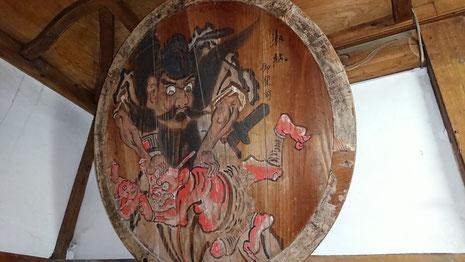 十社大神 宝物殿にある絵馬「鍾馗図」