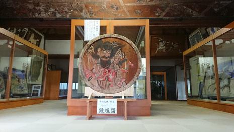 十社大神 宝物殿の一般開放 鍾馗様の図を正面に設置