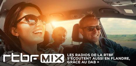 RTBF MIX, les radios de la RTBF s'écoutent aussi en Flandres, grâce au DAB+