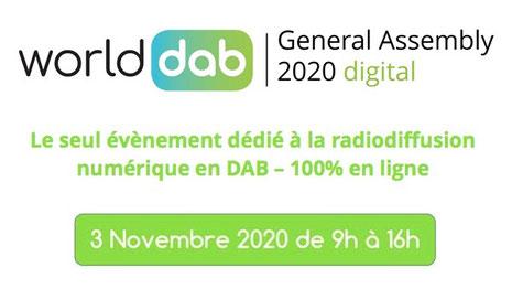 Assemblée Générale du WorldDAB 2020, 3 novembre 2020 de 9h à 16h, WorldDAB General Assembly 2020 digital