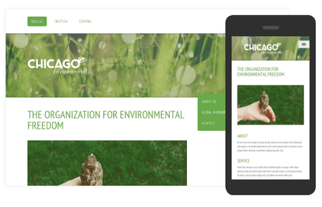 Mobile & Standard View Responsive Design at Jimdo