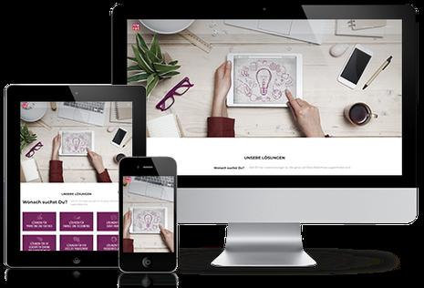 Julia Schuchardt Referenz Lilarot Homepage responsive Homepage Design