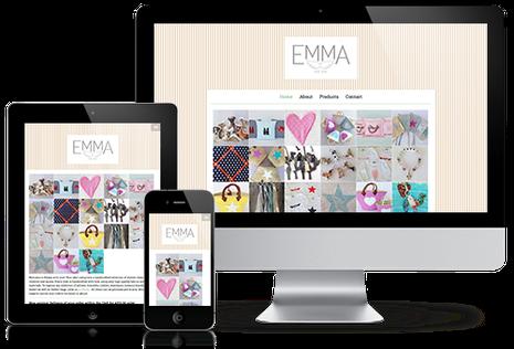Emma with Love website in responsive design
