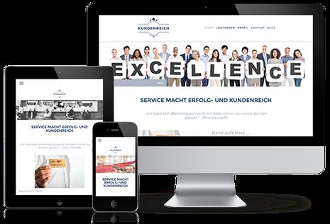 Homepage Kundenreich in responsive Website Design