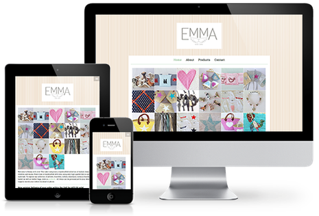 Homepage Emma with Love in responsivem Design