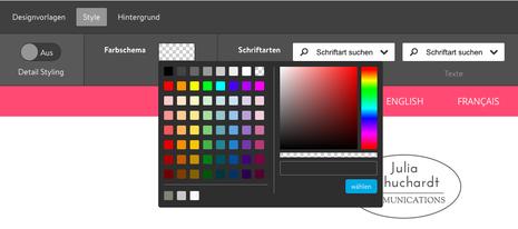 Allgemeines Farbschema der Website in Jimdo Creator bearbeiten