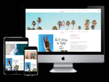 Love it Concept Store Website responsive Homepage Design
