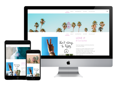 Julia Schuchardt Referenz Love it Concept Store Website responsive Homepage Design