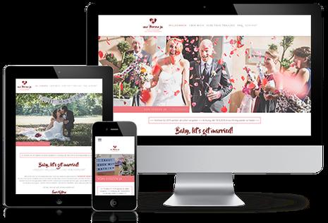 """Julia Schuchardt Referenz """"Von Herzen ja"""" Homepage in responsivem Design"""
