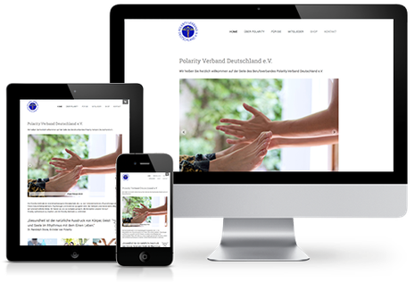 Homepage Polarity Verband Deutschland e.V. in responsivem Website Design