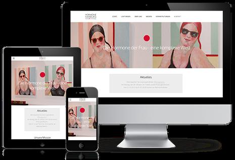 Hormone Hamburg Homepage in responsivem Website Design