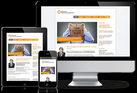 Zentrum Ideenmanagement website in responsive design