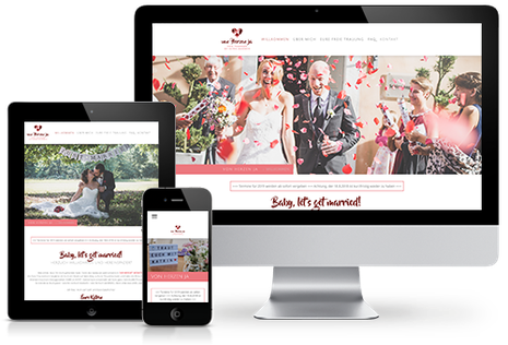 Von Herzen ja Homepage in responsivem Design