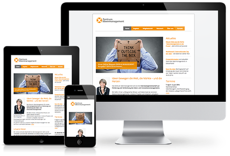 Site Internet Zentrum Ideenmanagement en design adaptif