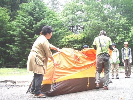 キャンプ生活を通して自然と自分の生活との関わりを意識することができます。